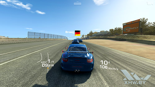 Игра Real Racing 3 на Samsung Galaxy S6 edge