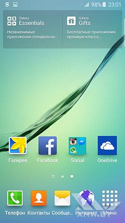 Рабочий стол Samsung Galaxy S6 edge. Рис. 2