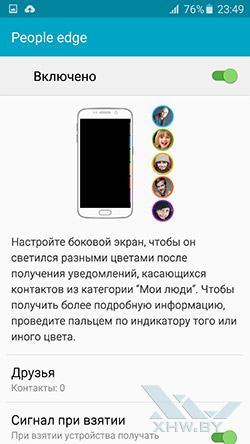 People edge на Samsung Galaxy S6 edge