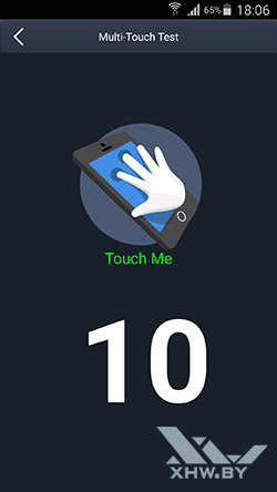 Экран Samsung Galaxy S6 edge распознает 10 касаний