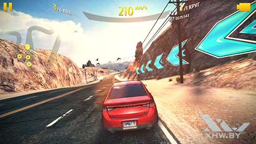 Игра Asphalt 8 на LG G3 Stylus