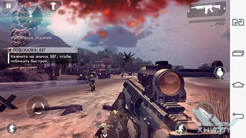 Игра Modern Combat 4: Zero Hour на LG G3 Stylus