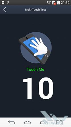 Экран LG G3 Stylus распознает 10 касаний