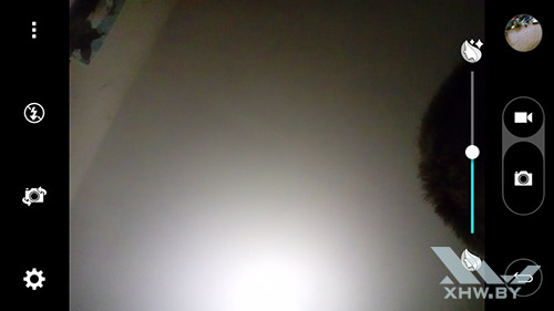 Параметры съемки лицевой камерой LG G3 Stylus