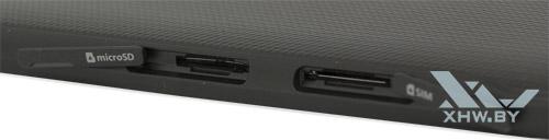 Отсеки для карт microSD и microSIM в Samsung Galaxy Tab E