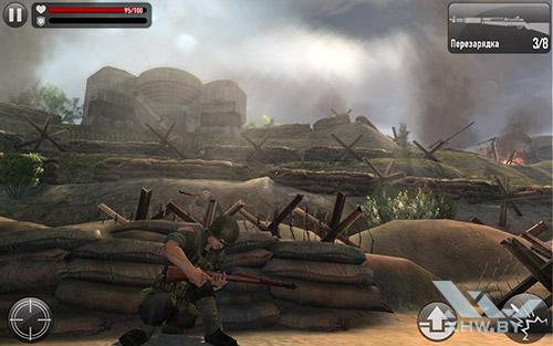 Игра Frontline Commando: Normandy на Samsung Galaxy Tab E