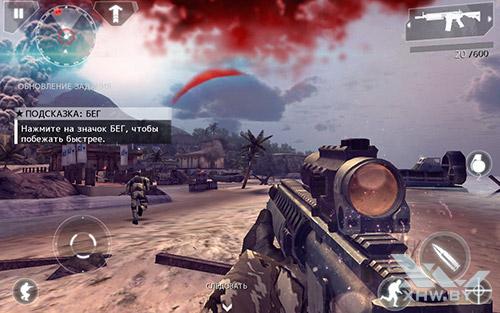 Игра Modern Combat 4: Zero Hour на Samsung Galaxy Tab E