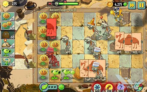 Игра Plants vs Zombies 2 на Samsung Galaxy Tab E
