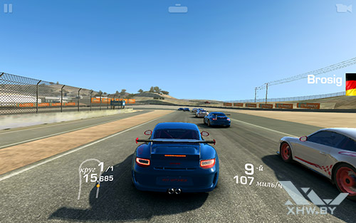 Игра Real Racing 3 на Samsung Galaxy Tab E