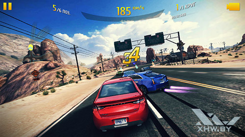 Игра Asphalt 8 на Highscreen Zera S Power