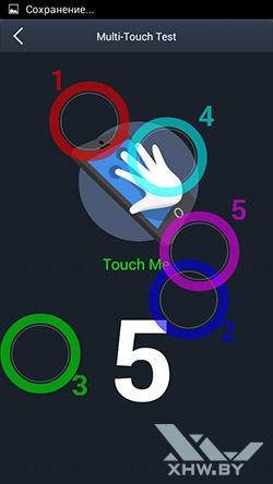 Экран Highscreen Zera S Power распознает 5 касаний