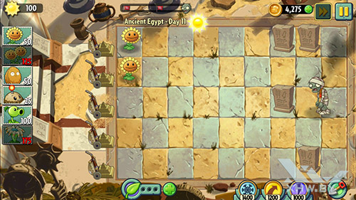 Игра Plants vs Zombies 2 на LG Magna