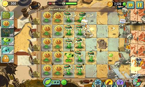Игра Plants vs Zombies 2 на Samsung Galaxy J1