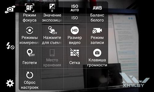 Параметры камеры Samsung Galaxy J1