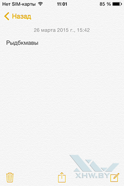 Notes в iOS. Рис. 1