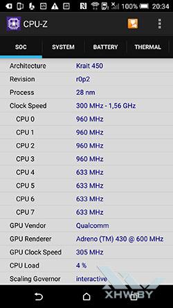 Процессор HTC One M9. Рис. 2