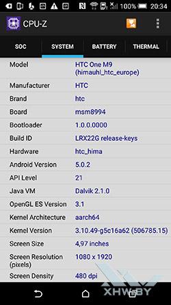 Система HTC One M9. Рис. 1