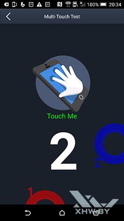 Экран HTC One M9 распознает два касания