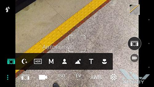 Приложение камеры на HTC One M9. Рис. 2