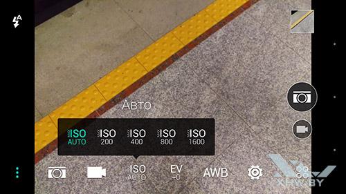 Параметры ISO на HTC One M9