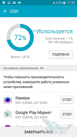 Smart Manager на Samsung Galaxy J5. Рис. 4