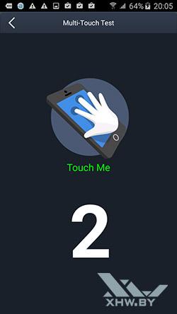 Экран Samsung Galaxy J5 распознает 2 касания