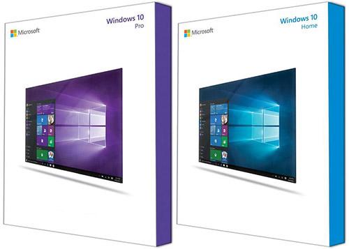 Коробки дисковых Windows 10