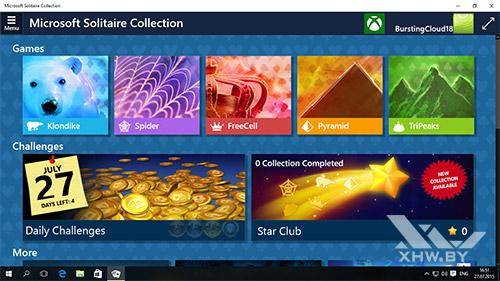 Карточные игры в Windows 10