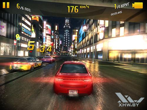 Игра Asphalt 8 на Samsung Galaxy Tab S2