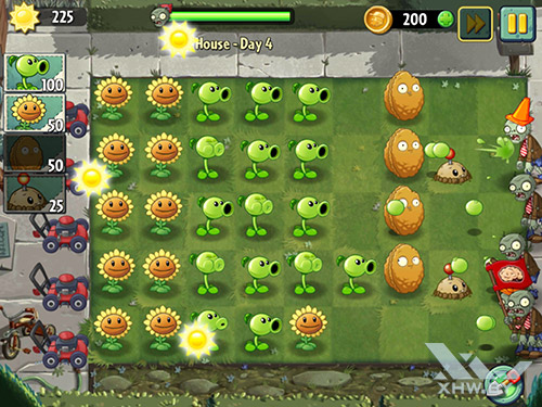 Игра Plants vs Zombies 2 на Samsung Galaxy Tab S2