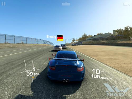 Игра Real Racing 3 на Samsung Galaxy Tab S2