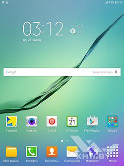 Рабочий стол Samsung Galaxy Tab S2. Рис. 1