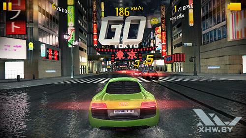 Игра Asphalt 8 на Lenovo A5000