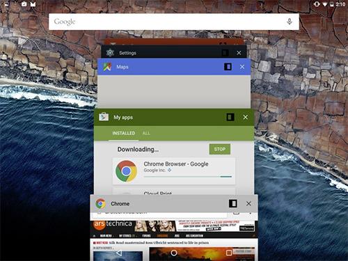 Многооконный режим в Android 6.0. Рис. 1