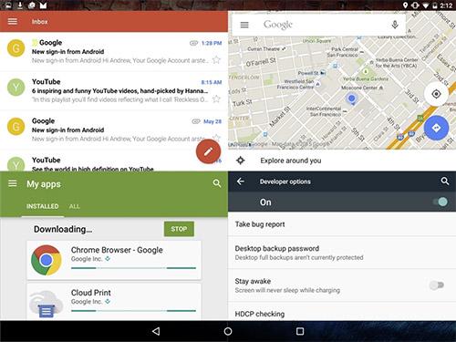 Многооконный режим в Android 6.0. Рис. 2