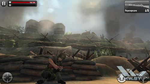 Игра Frontline Commando: Normandy на Senseit E400