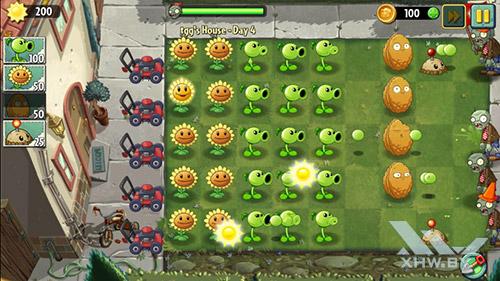 Игра Plants vs Zombies 2 на Senseit E400