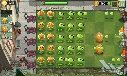 Игра Plants vs Zombies 2 на Senseit R390+