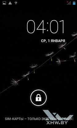 Экран блокировки на Senseit R390+