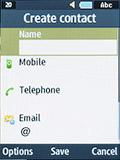 Создание контакта на Samsung SM-B350E
