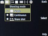Режим съемки камерой Samsung SM-B350E