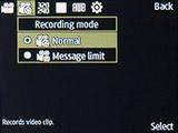 Режим съемки видео камерой Samsung SM-B350E