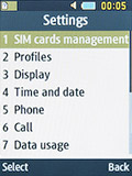 Настройки Samsung SM-B350E. Рис. 1
