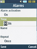 Новый будильник на Samsung SM-B350E