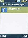 Социальные сети на Samsung SM-B350E. Рис. 1