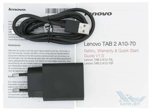 Комплектация Lenovo Tab 2 A10-70L