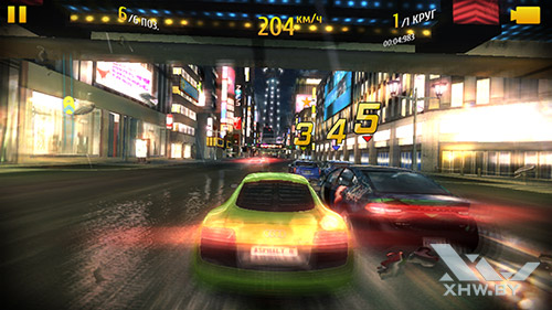 Игра Asphalt 8 на Samsung Galaxy S6 edge+