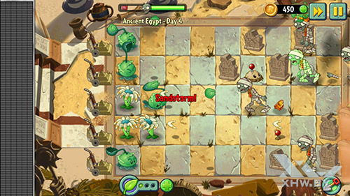 Игра Plants vs Zombies 2 на Samsung Galaxy S6 edge+