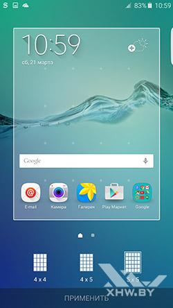Параметры рабочего стола Samsung Galaxy S6 edge+