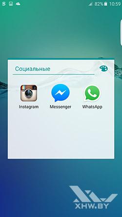 Социальные клиенты на Samsung Galaxy S6 edge+